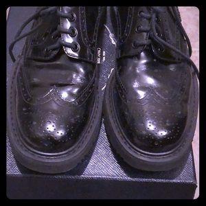 Prada brogue thick sole shoe